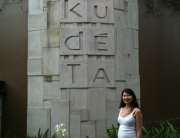 Us checking out Kudeta Bali - the place to be in seminyak.