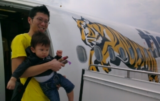 jerry on tiger airways for our kuching trip.