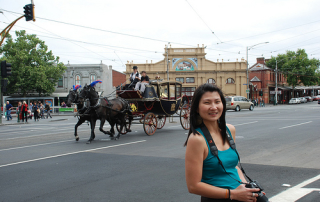 My Melbourne vacation - spotting a horse carriage on the Melbourne streets!