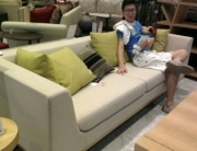 Sofa shopping.