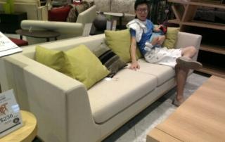 Sofa shopping.