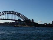 Lovely view of Sydney Harbour Bridge & Sydney Opera House from Sydney Circular Quay.