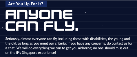 ifly message - everyone can fly.