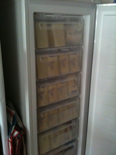 Entire freezer filled with breastmilk.