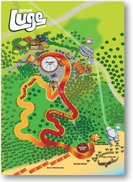 Skyline Luge Sentosa Tracks map.