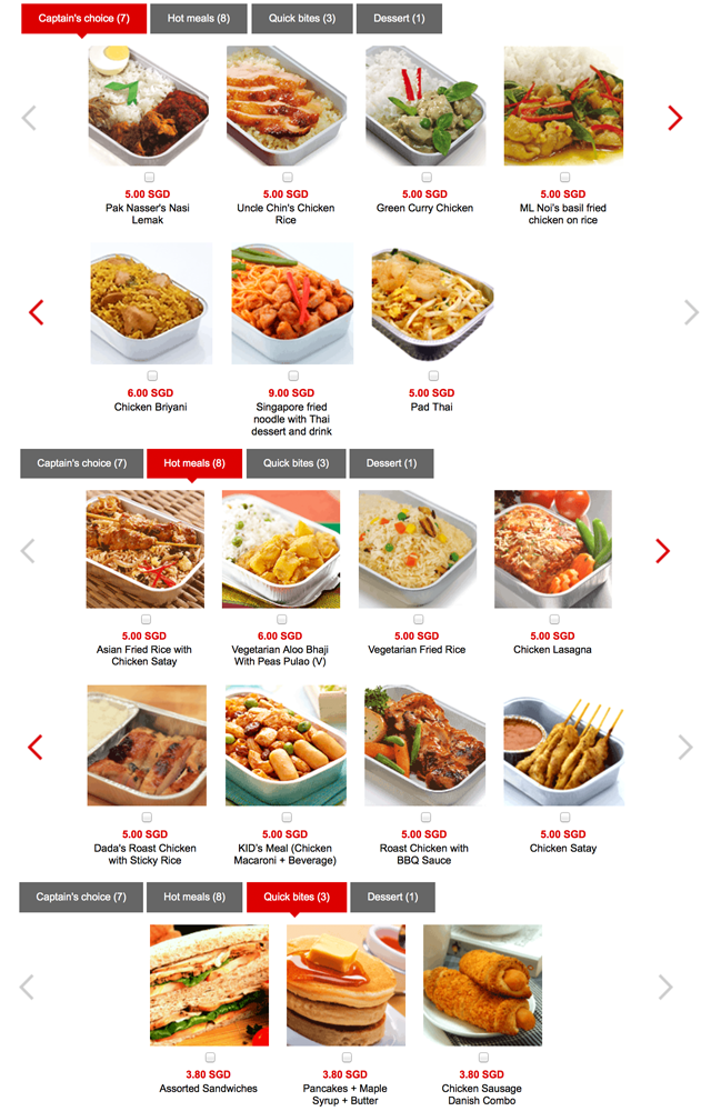 Airasia meals