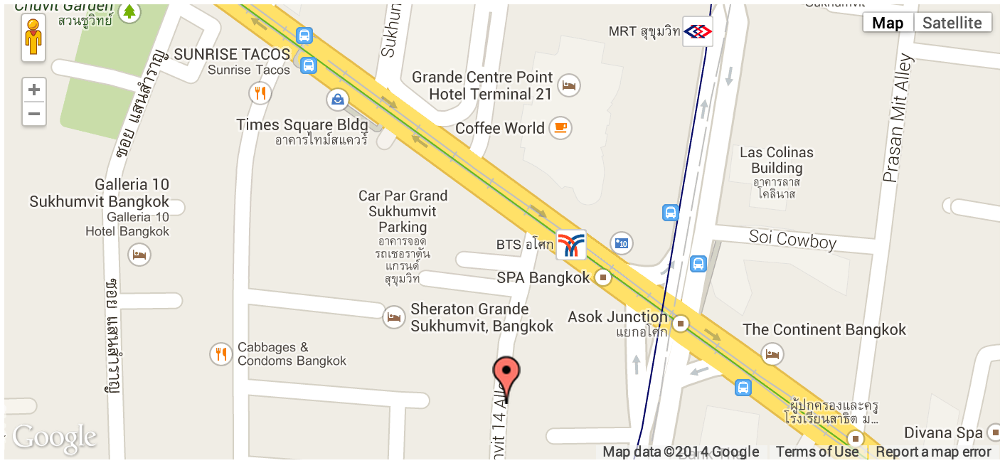 Map of Tune Hotel, Asoke, Bangkok