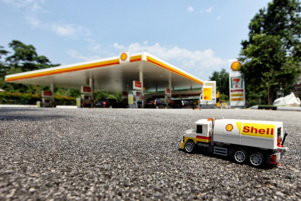 Limited Edition Shell Tanker LEGO Model