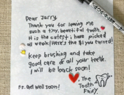 Tooth Fairy writes a note for Jerry
